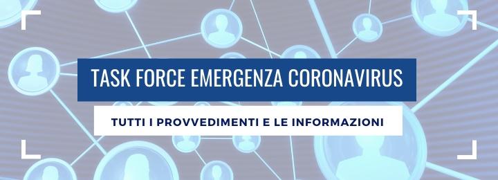 EMERGENZA CORONAVIRUS − ULTIMI AGGIORNAMENTI