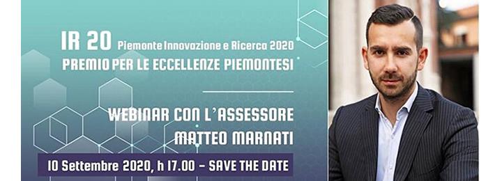 """Premio """"IR20 − Piemonte Innovazione e Ricerca 2020"""". Partecipa al webinar organizzato dalla Regione Piemonte"""