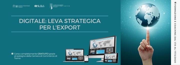 Digitale: leva strategica per l'export − Webinar di presentazione